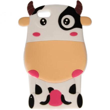 ETUI 3D KRÓWKA IPHONE 6 4.7'' KREMOWY