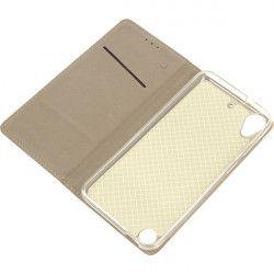 BOOK MAGNET ETUI NA TELEFON HTC 530/630 ZŁOTY