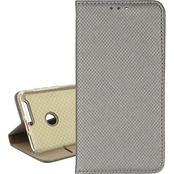 BOOK MAGNET ETUI NA TELEFON HUAWEI HONOR 8 FRD-L02  STALOWY
