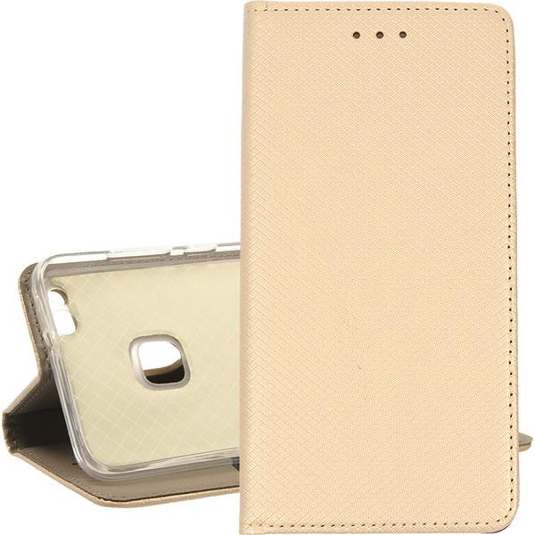 BOOK MAGNET ETUI NA TELEFON HUAWEI P10 LITE WAS-L03T ZŁOTY