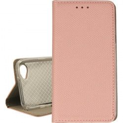 BOOK MAGNET ETUI NA TELEFON LG Q6 ROSE GOLD