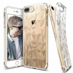 ETUI GEOMETRIC IPHONE 7 / 8 TRANSPARENTNY