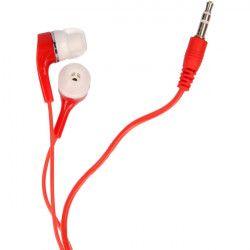 SŁUCHAWKI UNIWERSALNE MP3 MP4 KOLORY CZERWONY
