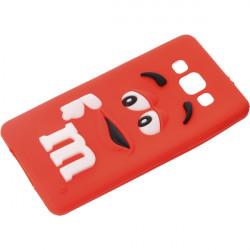 GUMA 3D M&M'S ETUI NA TELEFON SAMSUNG GALAXY A5 CZERWONY