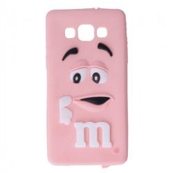 GUMA 3D M&M'S ETUI NA TELEFON SAMSUNG GALAXY A5 JASNY RÓŻOWY