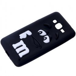 GUMA 3D M&M'S ETUI NA TELEFON SAMSUNG GALAXY GRAND PRIME  G530 CZARNY
