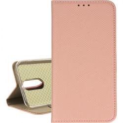 ETUI BOOK MAGNET LG K10 2017 ROSE GOLD