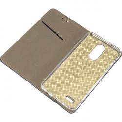 BOOK MAGNET ETUI NA TELEFON LG K4 2017 / K8 2017 DUAL M200E/M160 GRANATOWY