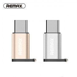 ADAPTER REMAX MICRO USB/USB USB TYP-C RA-USB1 SREBRNY