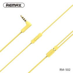 SŁUCHAWKI REMAX RM-502 ŻÓŁTE