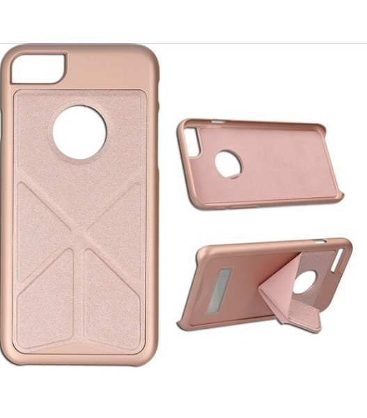 FOLDABLE STAND ETUI NA TELEFON IPHONE 7 / 8 STOJAK A1784 /A1987 ROSE GOLD