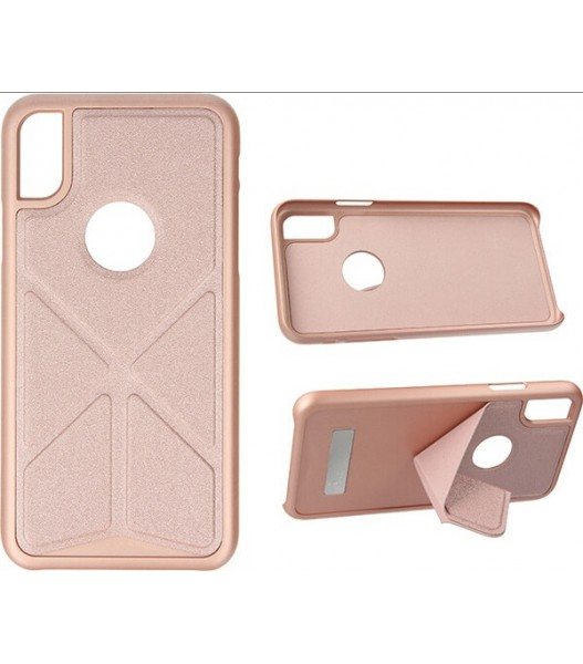 ETUI FOLDABLE STAND IPHONE X XS STOJAK ROSE GOLD