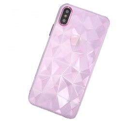ETUI GEOMETRIC IPHONE X XS RÓŻOWY