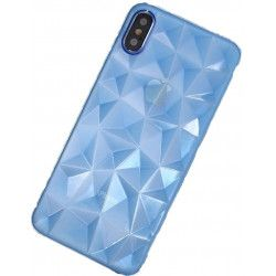 ETUI GEOMETRIC IPHONE X XS NIEBIESKI