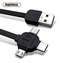 KABEL USB REMAX RC-066th 3w1 BIAŁY