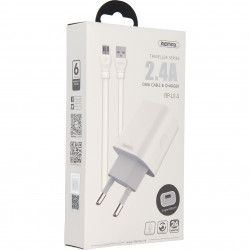 ŁADOWARKA SIECIOWA REMAX RP-U14 1xUSB MICRO USB 2,4A BIAŁY