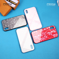 GLASS MARBLE REMAX ETUI NA TELEFON IPHONE 7 / 8 A1784 /A1987 CZERWONY