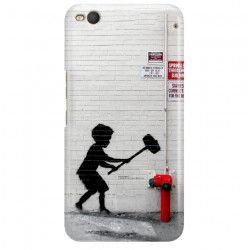 ETUI NA TELEFON HTC ONE X9 BANKSY WZÓR BK178