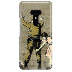 ETUI NA TELEFON HTC U12 PLUS BANKSY WZÓR BK135