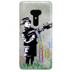ETUI NA TELEFON HTC U12 PLUS BANKSY WZÓR BK162