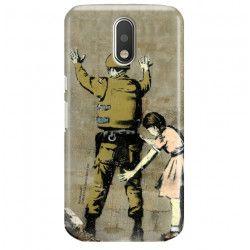 ETUI NA TELEFON LENOVO MOTO G4 G4 PLUS XT1622 BANKSY WZÓR BK135