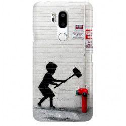 ETUI NA TELEFON LG G7 LMG710 BANKSY WZÓR BK178