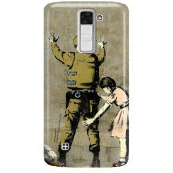 ETUI NA TELEFON LG K8 K350N BANKSY WZÓR BK135