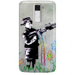 ETUI NA TELEFON LG K8 K350N BANKSY WZÓR BK162