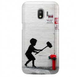 ETUI NA TELEFON SAMSUNG GALAXY J2 2018 J250 BANKSY WZÓR BK178