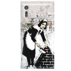 ETUI NA TELEFON SONY XPERIA XZ F8331 BANKSY WZÓR BK100