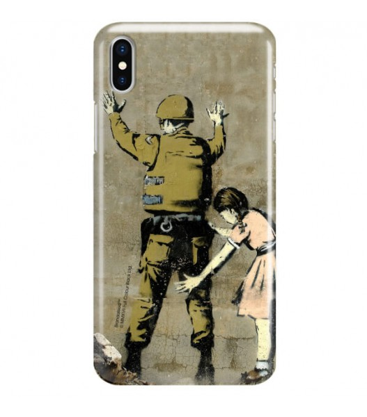 iPHONE X BANKSY WZÓR BK135