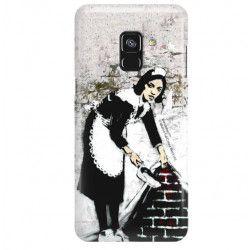 ETUI NA TELEFON SAMSUNG GALAXY A8 2018 A530 BANKSY WZÓR BK100
