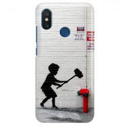 ETUI NA TELEFON XIAOMI Mi8 BANKSY WZÓR BK178