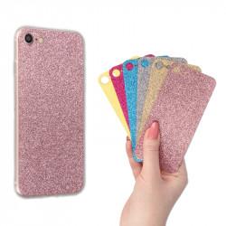 CLEAR 0.3mm ETUI NA TELEFON LG G3 MINI D722 + 6x WKŁADKA BROKATOWA