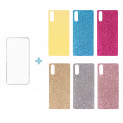 CLEAR 0.3mm ETUI NA TELEFON LG MAGNA G4C + 6x WKŁADKA BROKATOWA