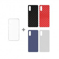 CLEAR + CARBON x4 ETUI NA TELEFON SAMSUNG GALAXY POCKET