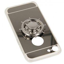 ETUI MIRROR SPINNER IPHONE 7 4.7'' 8 4.7'' SREBRNY