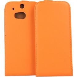 KABURA SLIGO ELEGANCE HTC ONE M8 M8S POMARAŃCZOWY