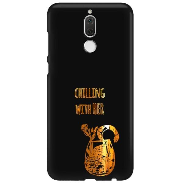 NEON GOLD ETUI NA TELEFON HUAWEI MATE 10 LITE MIENIĄCE SIĘ ZLC106