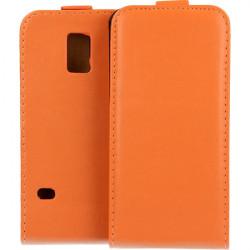 KABURA SLIGO ELEGANCE ETUI NA TELEFON SAMSUNG GALAXY S5 MINI G800 POMARAŃCZOWY