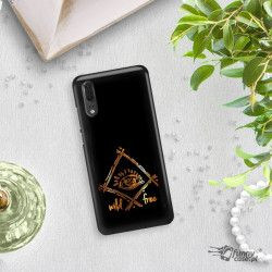 NEON GOLD ETUI NA TELEFON HUAWEI P20 EML-L09 MIENIĄCE SIĘ ZLC115