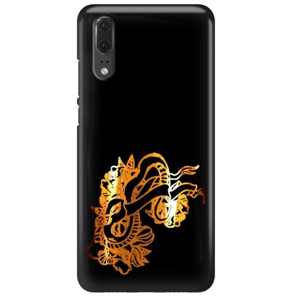 NEON GOLD ETUI NA TELEFON HUAWEI P20 EML-L09 MIENIĄCE SIĘ ZLC126
