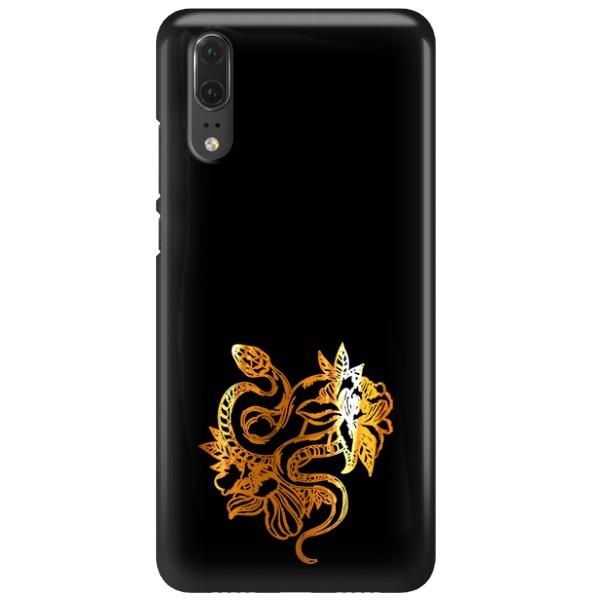 NEON GOLD ETUI NA TELEFON HUAWEI P20 EML-L09 MIENIĄCE SIĘ ZLC129