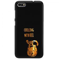 NEON GOLD ETUI NA TELEFON HUAWEI P9 LITE MINI MIENIĄCE SIĘ ZLC106