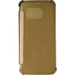 FLIP CLEAR VIEW ETUI NA TELEFON SAMSUNG GALAXY S7 G930 ZŁOTY