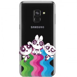 ETUI NA TELEFON SAMSUNG GALAXY A8 2018 CARTOON NETWORK ATOMÓWKI WZÓR AT501