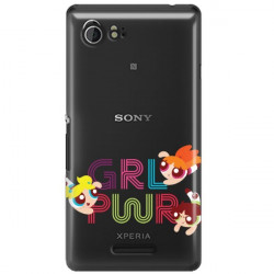ETUI NA TELEFON SONY XPERIA E3 CARTOON NETWORK ATOMÓWKI WZÓR AT505