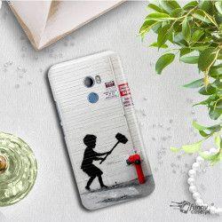 ETUI NA TELEFON HTC U11 PLUS BANKSY WZÓR BK178
