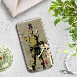 ETUI NA TELEFON NOKIA 1 TA-1047  BANKSY WZÓR BK135
