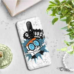 ETUI NA TELEFON NOKIA X6 2018 RM-559 CARTOON NETWORK DX105 CLASSIC LABORATORIUM DEXTERA